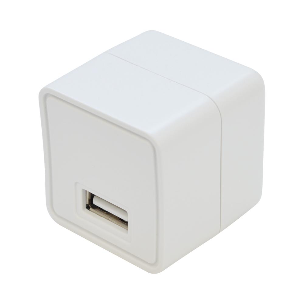 ラスタバナナ AC充電器 汎用 コンパクトタイプ Smart IC搭載 1ポート 2.4A 5V タイプA ケーブル1.5m 充電 通信 マイクロUSB タイプC変換付属 スマートIC ホワイト RACA2A01WH