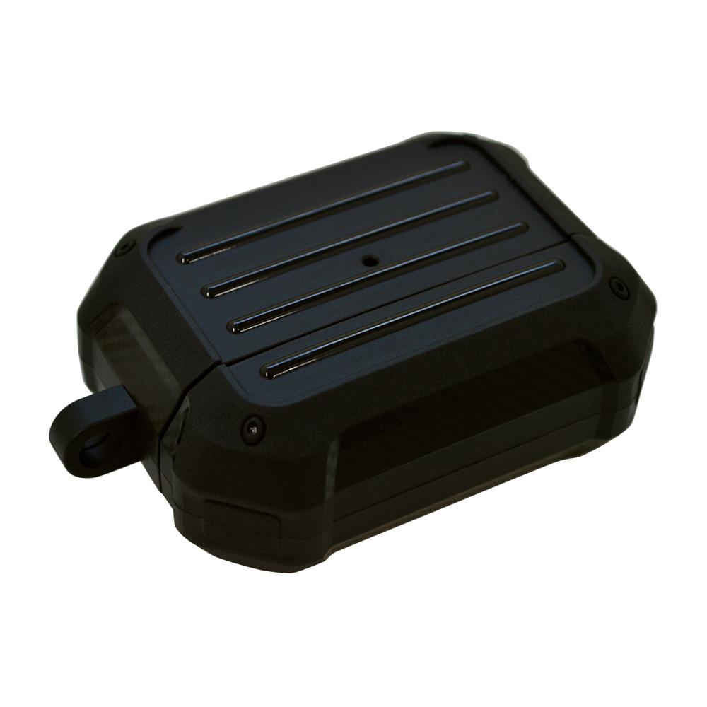 ラスタバナナ AirPods Pro ケース カバー TPU toughケース カラビナ付き 耐衝撃吸収 ワイヤレス充電対応 ブラック エアポッズプロ 5963APPTP