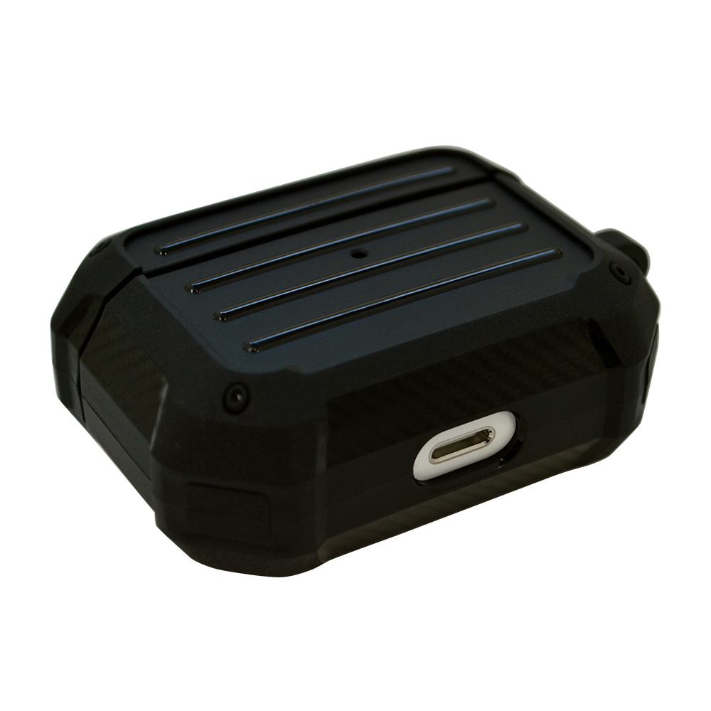 ラスタバナナ AirPods Pro ケース カバー TPU toughケース カラビナ付き 耐衝撃吸収 ワイヤレス充電対応 カーキ エアポッズプロ 5966APPTP