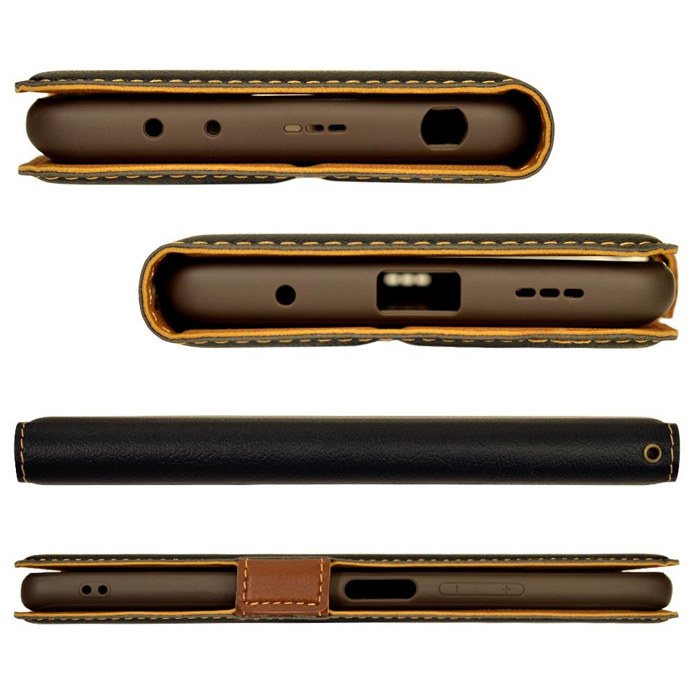 ラスタバナナ Xiaomi Redmi Note10 Pro ケース カバー 手帳型 +COLOR 薄型 サイドマグネット 耐衝撃吸収 スタンド機能 カード入れ BK×DBR シャオミ レッドミー ノート プロ スマホケース 6267RMN10PBO
