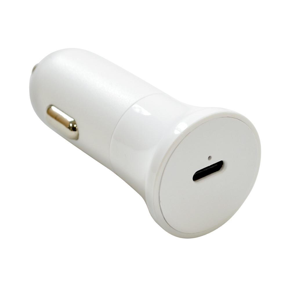 ラスタバナナ 車用充電器 PD対応 20W タイプC ポート DC充電器 Type-C ホワイト 高速充電 RDCC20W01WH