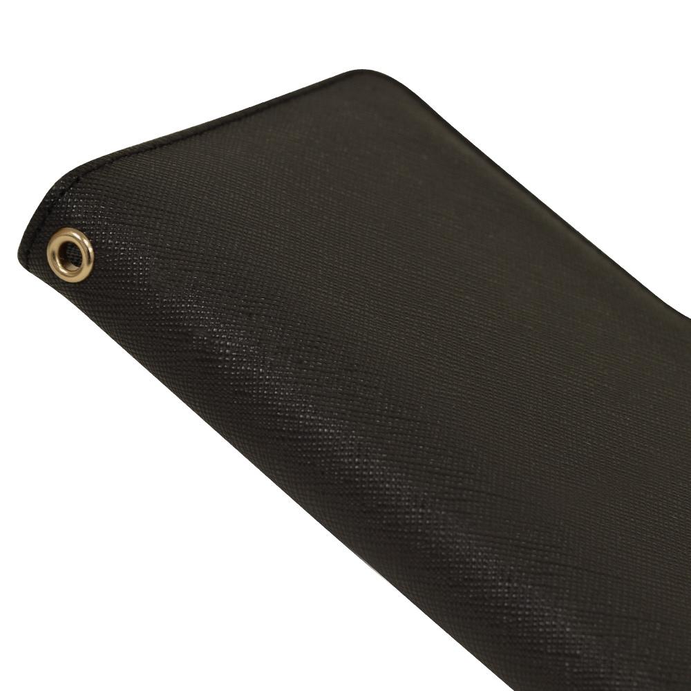 ラスタバナナ OPPO A73 ケース カバー 手帳型 ハンドストラップ付き ブラック オッポ スマホケース 6073A73BO