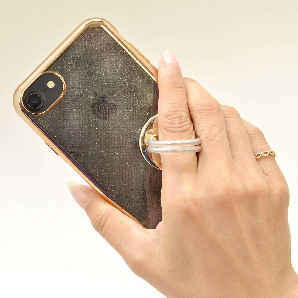 お宝市 ラスタバナナ iPhone スマホ 2in1 スマホリング エアコン送風口対応 車載ホルダー 落下防止リング  視聴スタンド ゴールド RRNGAI01GD