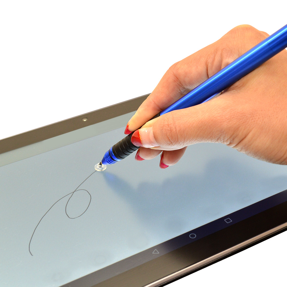 ラスタバナナ スマホ タブレット 静電式タッチペン クリアディスク ペン先が見える ブラック RTP01BK