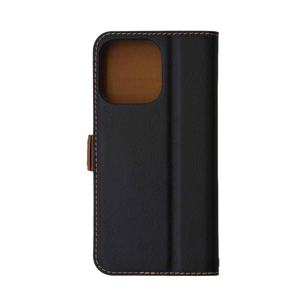ラスタバナナ iPhone13 Pro Max ケース カバー 手帳型 薄型 耐衝撃吸収 カード入れ おしゃれ スタンド機能 シンプル 大人 レディース メンズ +COLOR サイドマグネット BK×DBR アイフォン13 スマホケース 6581IP167BO