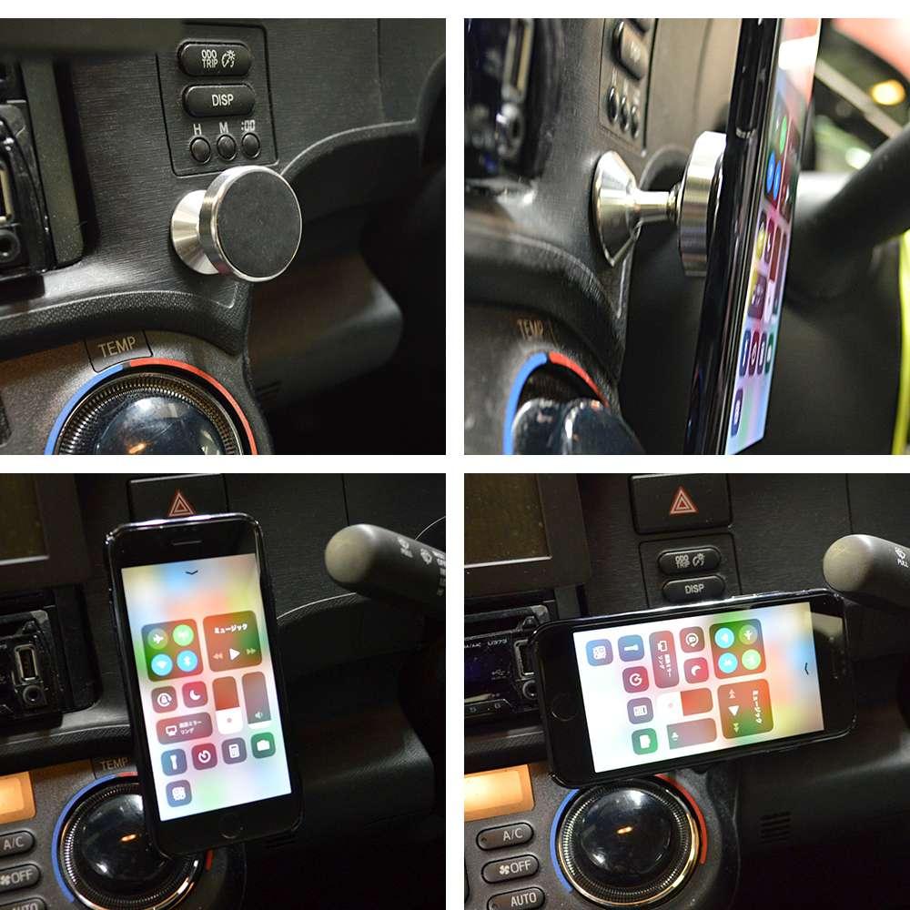 ラスタバナナ iPhone スマートフォン対応 マグネット車載スタンド ダッシュボード用 車載用 ゴールド アイフォン RMAGSCAR01GD