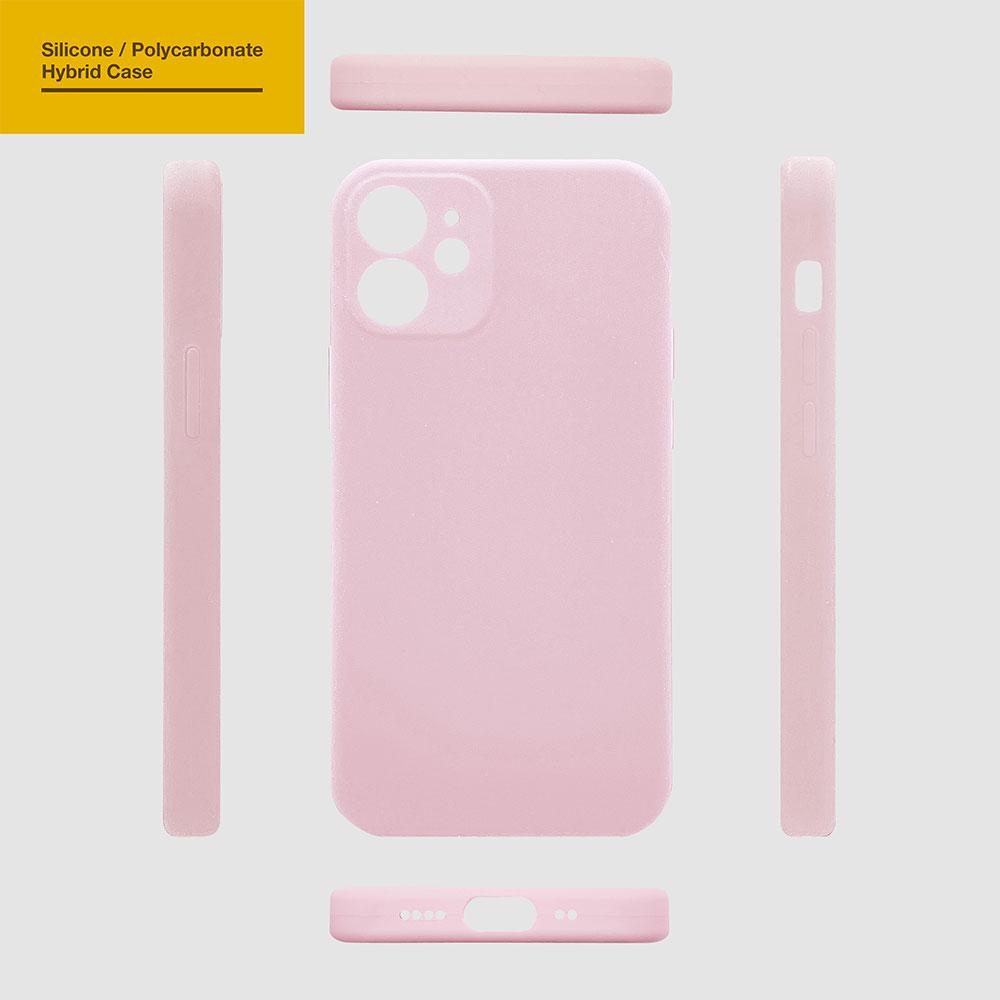ラスタバナナ iPhone12 mini ケース カバー ハイブリッド PCシリコンケース 極限保護 ライトピンク アイフォン12 ミニ スマホケース 5832IP054HB
