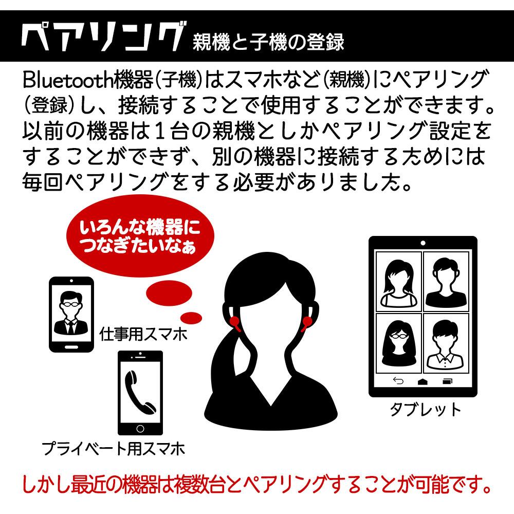 ラスタバナナ iPhone スマホ Bluetooth 5.0 完全ワイヤレス ステレオ イヤホン マイク カナル型 ブルートゥース 左右分離型 タッチセンサー イヤーパッド付 通話可能 ハンズフリー ブラック RTWS02BK