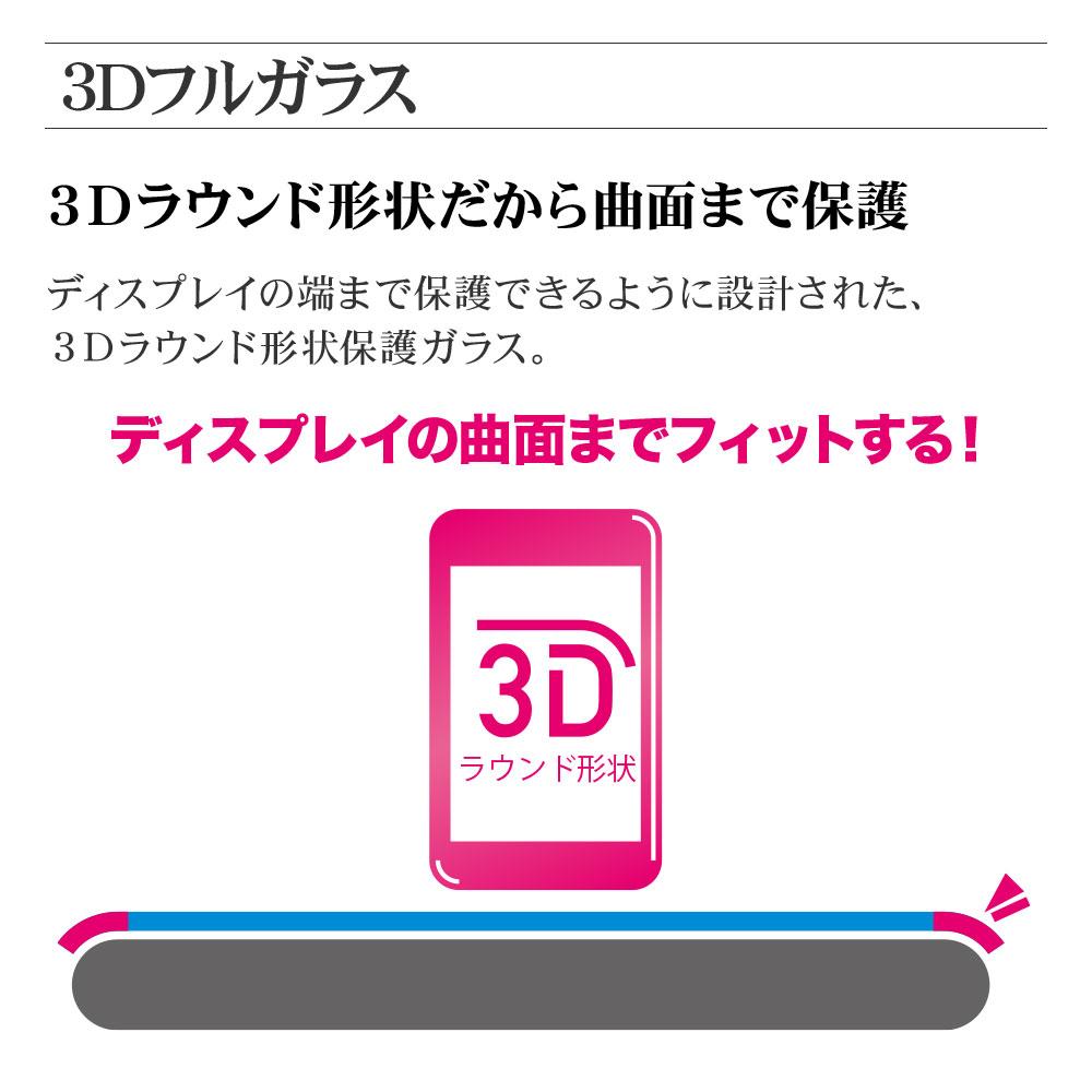 ラスタバナナ Rakuten Hand フィルム 全面保護 強化ガラス 高透明クリア 光沢タイプ 指紋認証対応 3D曲面フレーム ブラック ラクテンハンド 楽天ハンド 液晶保護 3SS2930RAKH