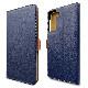 ラスタバナナ Galaxy S21+ 5G SCG10 ケース カバー 手帳型 +COLOR 耐衝撃吸収 薄型 サイドマグネット NV×BR ギャラクシー S21+ 5G スマホケース 6165GS21PBO