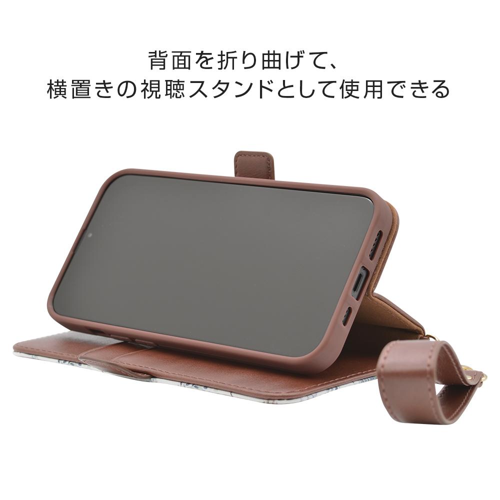ラスタバナナ iPhone13 Pro Max ケース カバー 手帳型 かわいい カード入れ おしゃれ スタンド機能 シンプル 大人 レディース ハンドストラップ付き 花柄 ウィンターフラワー アイフォン13 スマホケース 6590IP167BO