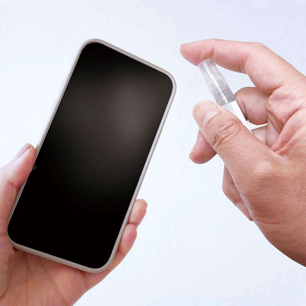ラスタバナナ スマホ タブレット タッチパネル 静電式 タッチペン スプレーボトル付き アルコール 除菌 消毒 香水 詰め替え可能 ホワイト RTP07WH
