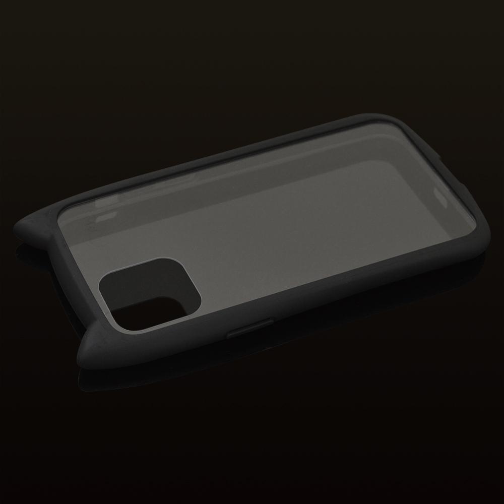 ラスタバナナ iPhone12 12 Pro ケース カバー ハイブリッド VANILLA PACK mimi GLASS バニラパック 猫耳 ネコミミ ガラス ブラック ガラス アイフォン スマホケース 5746IP061HB