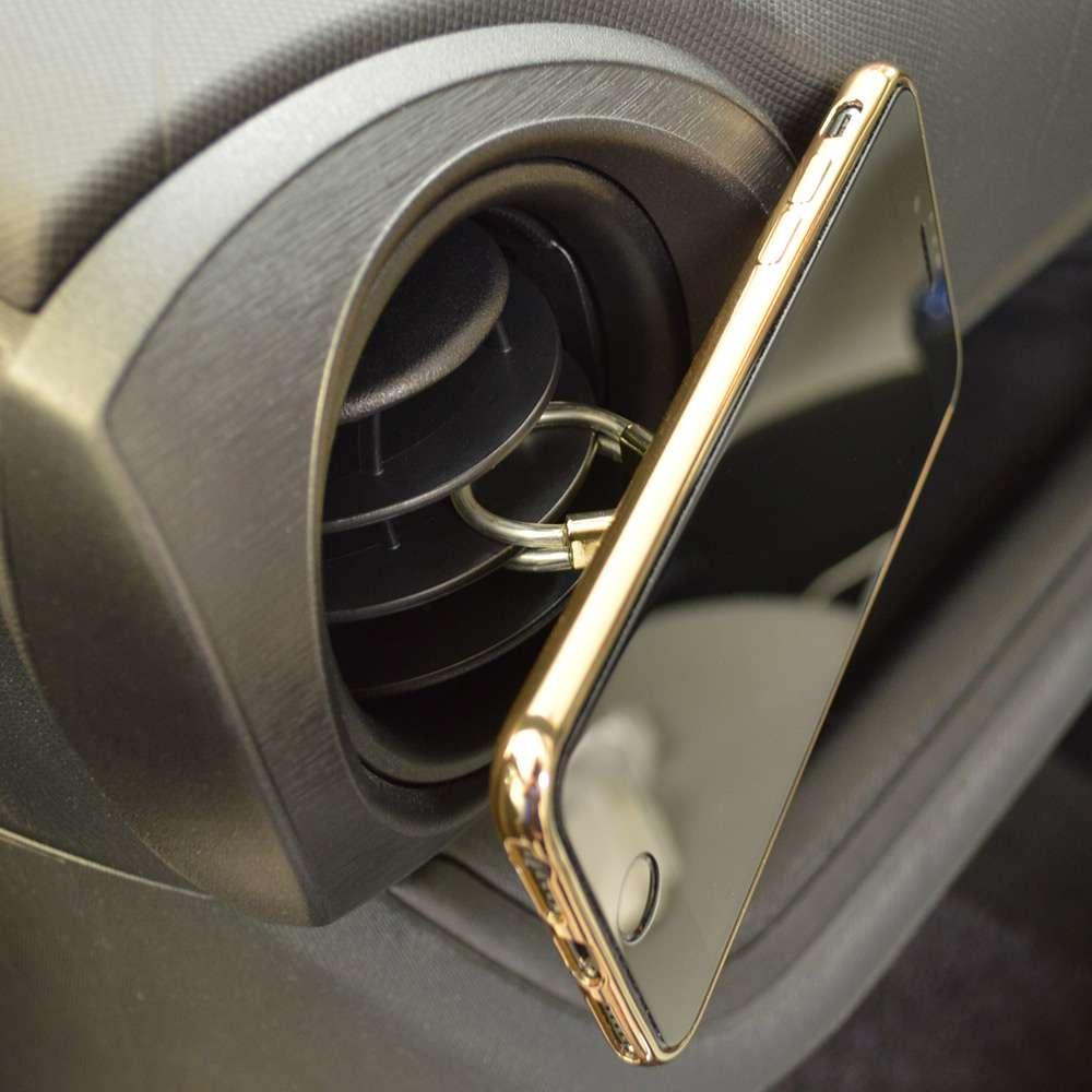 ラスタバナナ iPhone スマホ 2in1 スマホリング エアコン送風口対応 車載ホルダー 落下防止リング  視聴スタンド ゴールド RRNGAI01GD