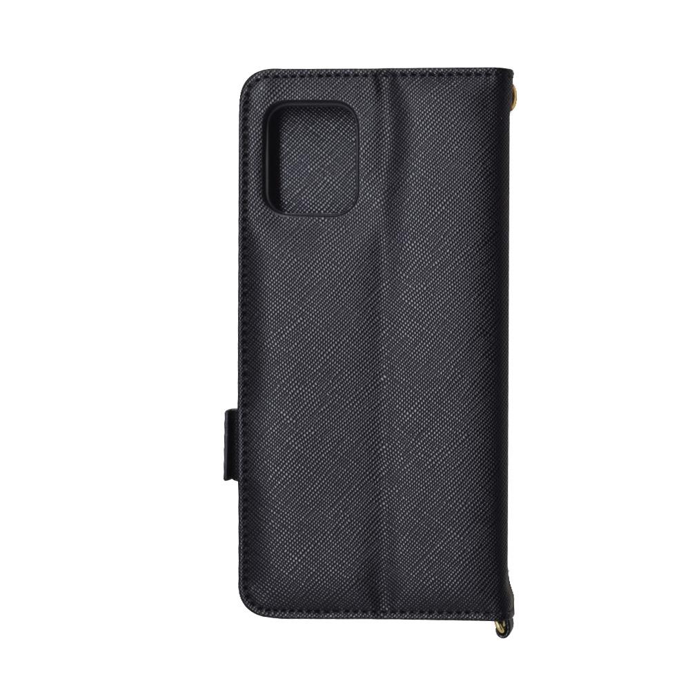 ラスタバナナ AQUOS zero6 SHG04 ケース カバー 手帳型 カード入れ おしゃれ スタンド機能 シンプル 大人 レディース メンズ ハンドストラップ付き ブラック アクオス ゼロ6 スマホケース 6626AQOZ6BO