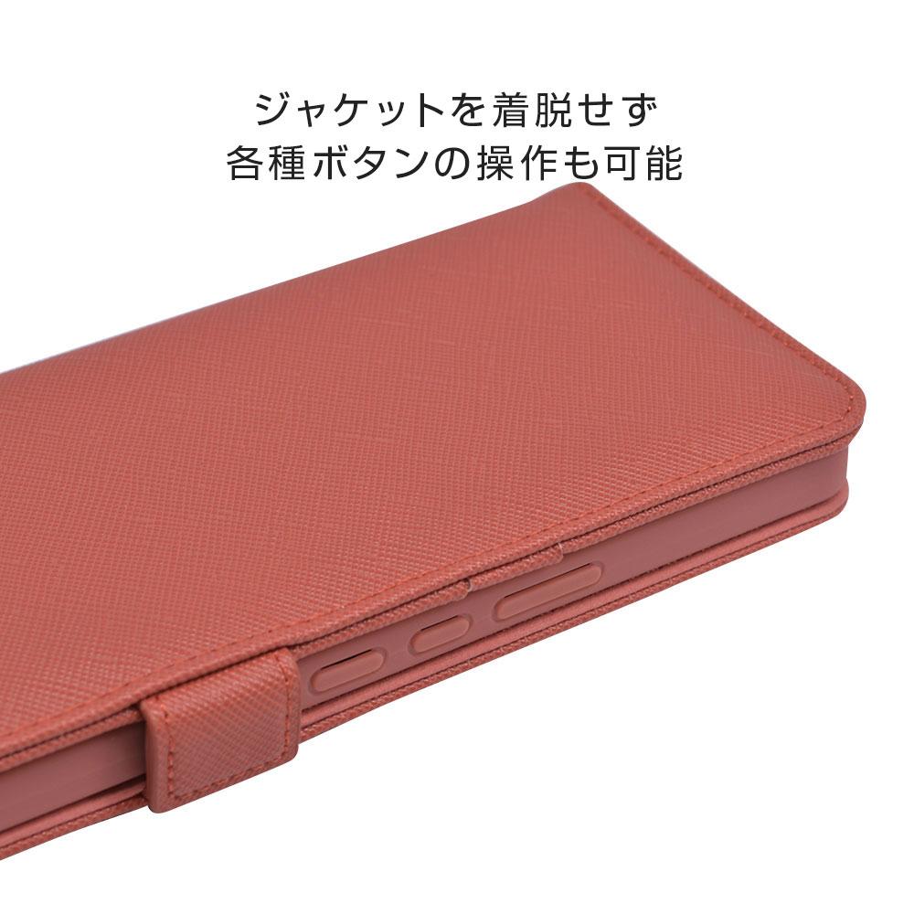 ラスタバナナ AQUOS zero6 SHG04 ケース カバー 手帳型 カード入れ おしゃれ スタンド機能 シンプル 大人 レディース メンズ ハンドストラップ付き コーラルピンク アクオス ゼロ6 スマホケース 6628AQOZ6BO