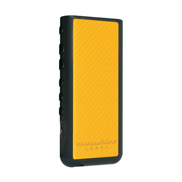 WALKMAN ZX500シリーズ NW-ZX500 ケース/カバー ハイブリッド ソフト 液晶保護ガラス付き フルアーマー ブラック/カーボンイエロー ウォークマン CP-NWZX50C2/BY