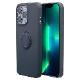 ラスタバナナ iPhone13 Pro Max ケース カバー ソフトケース TPU スマホリング付き 落下防止 スタンド ストラップホール ネイビー アイフォン13 スマホケース 6601IP167TP