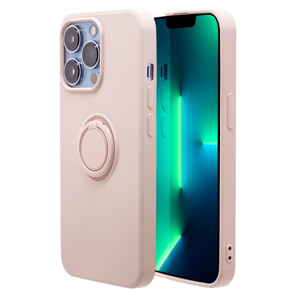 ラスタバナナ iPhone13 Pro Max ケース カバー ソフトケース TPU スマホリング付き 落下防止 スタンド ストラップホール ライトピンク アイフォン13 スマホケース 6603IP167TP