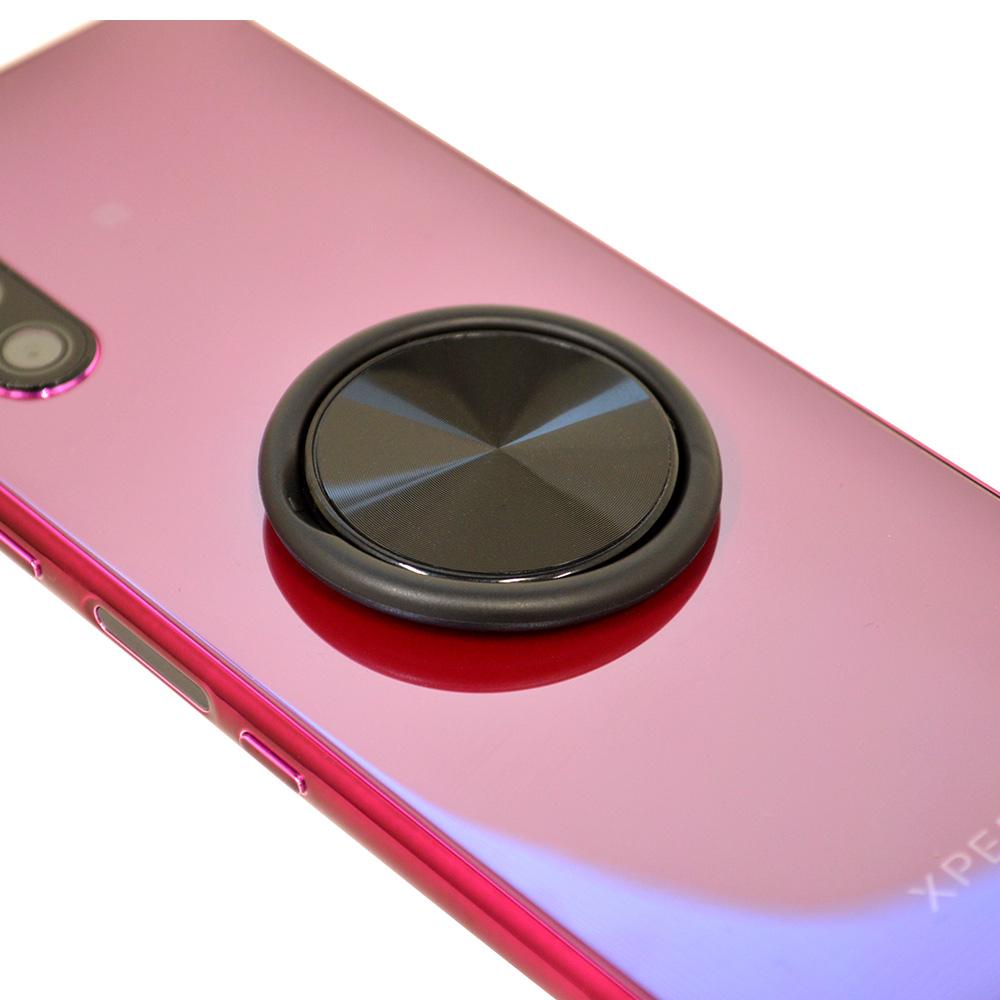 お宝市 ラスタバナナ iPhone スマートフォン 2in1 スマホリング フィンガーホールド ソフト スタンド 落下防止 ピンク RRNGQI01PK