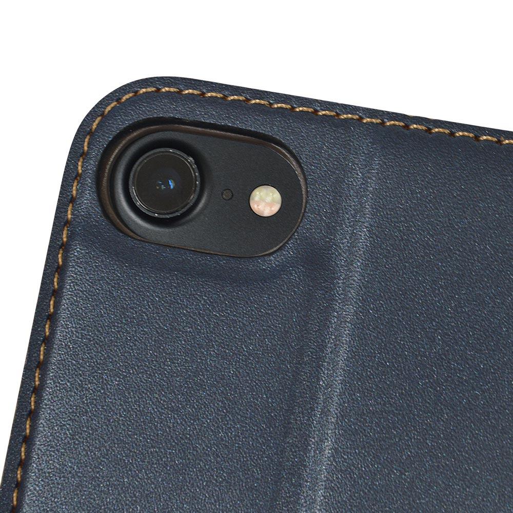 ラスタバナナ iPhone SE 第2世代 iPhone8 iPhone7 iPhone6s 共用 ケース カバー 手帳型 薄型 サイドマグネット ネイビー アイフォン SE2 2020 スマホケース 5453IP047BO