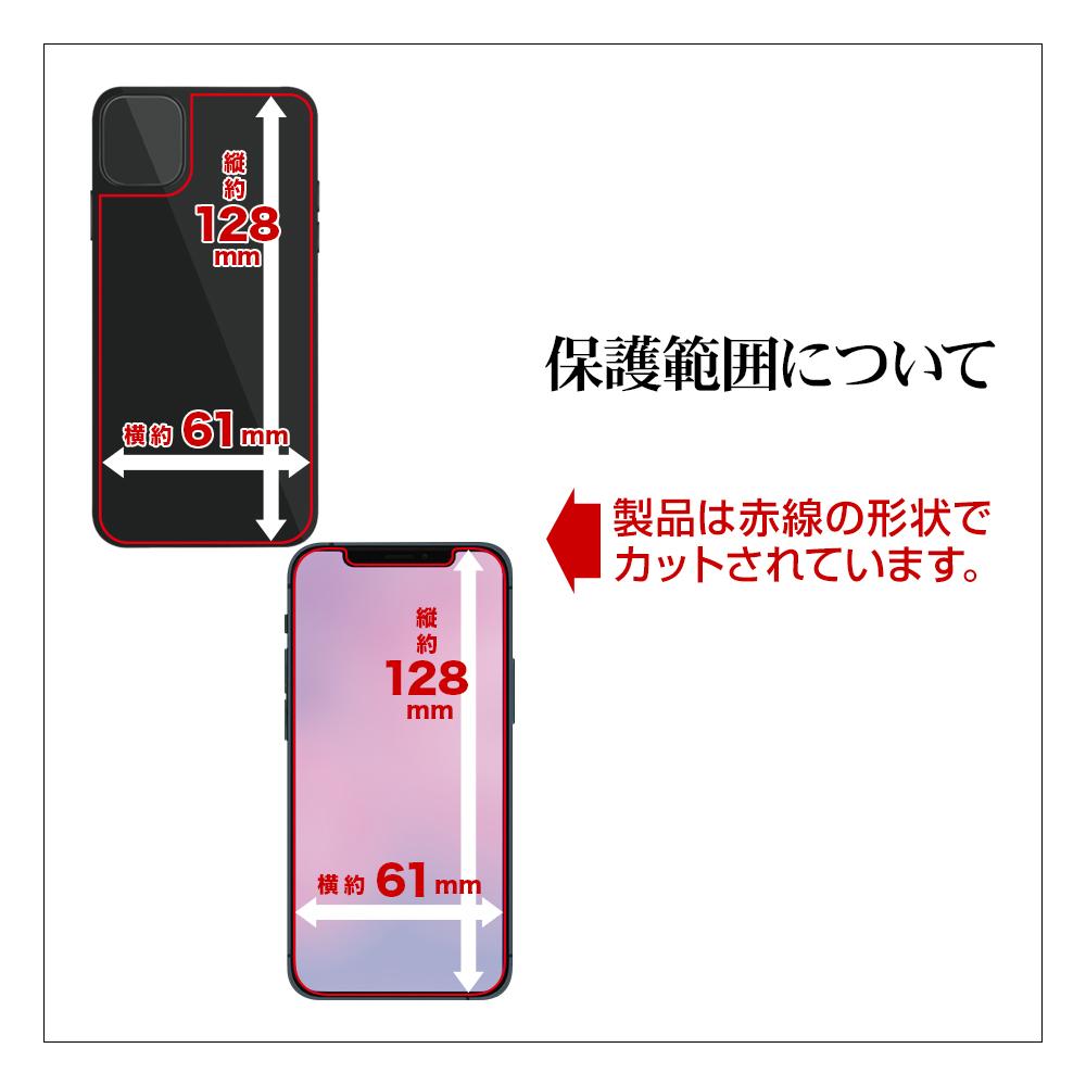 ラスタバナナ iPhone12 mini フィルム 全面保護 抗菌 抗ウイルス 高光沢 液晶面+背面セット アイフォン12 ミニ 保護フィルム HP2514IP054