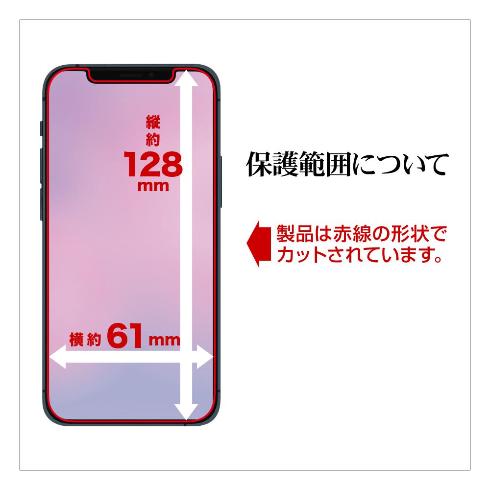 ラスタバナナ iPhone12 mini フィルム 全面保護 ブルーライトカット 反射防止 抗菌 ゲームに最適 アイフォン12 ミニ 液晶保護 XY2516IP054