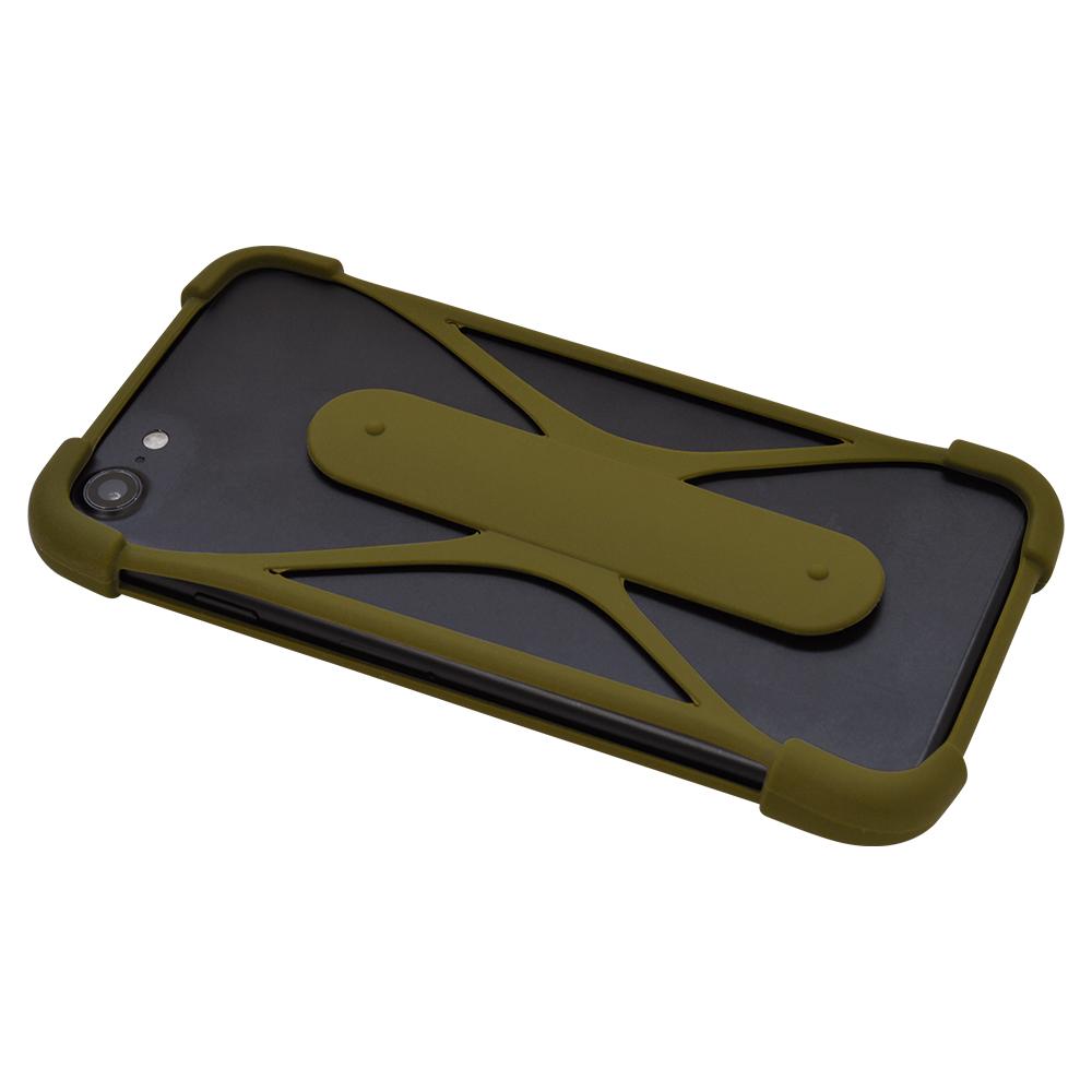 ラスタバナナ スマホケース 各種スマートフォン対応 汎用 シリコンバンパー スタンド機能付き 落下防止 ブラック Mサイズ RFRBUSSIM00BK