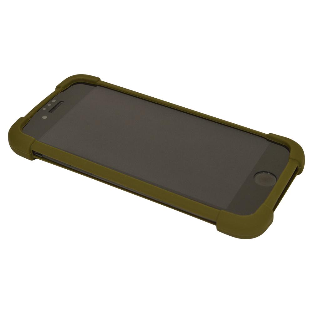 ラスタバナナ スマホケース 各種スマートフォン対応 汎用 シリコンバンパー スタンド機能付き 落下防止 カーキ Mサイズ RFRBUSSIM00KH