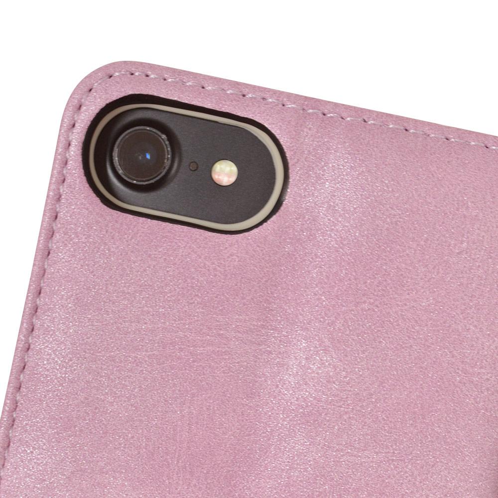 ラスタバナナ iPhone SE 第2世代 iPhone8 iPhone7 iPhone6s 共用 ケース カバー 手帳型 ハンドストラップ付き 花柄 ライトパープル アイフォン SE2 2020 スマホケース 5460IP047BO