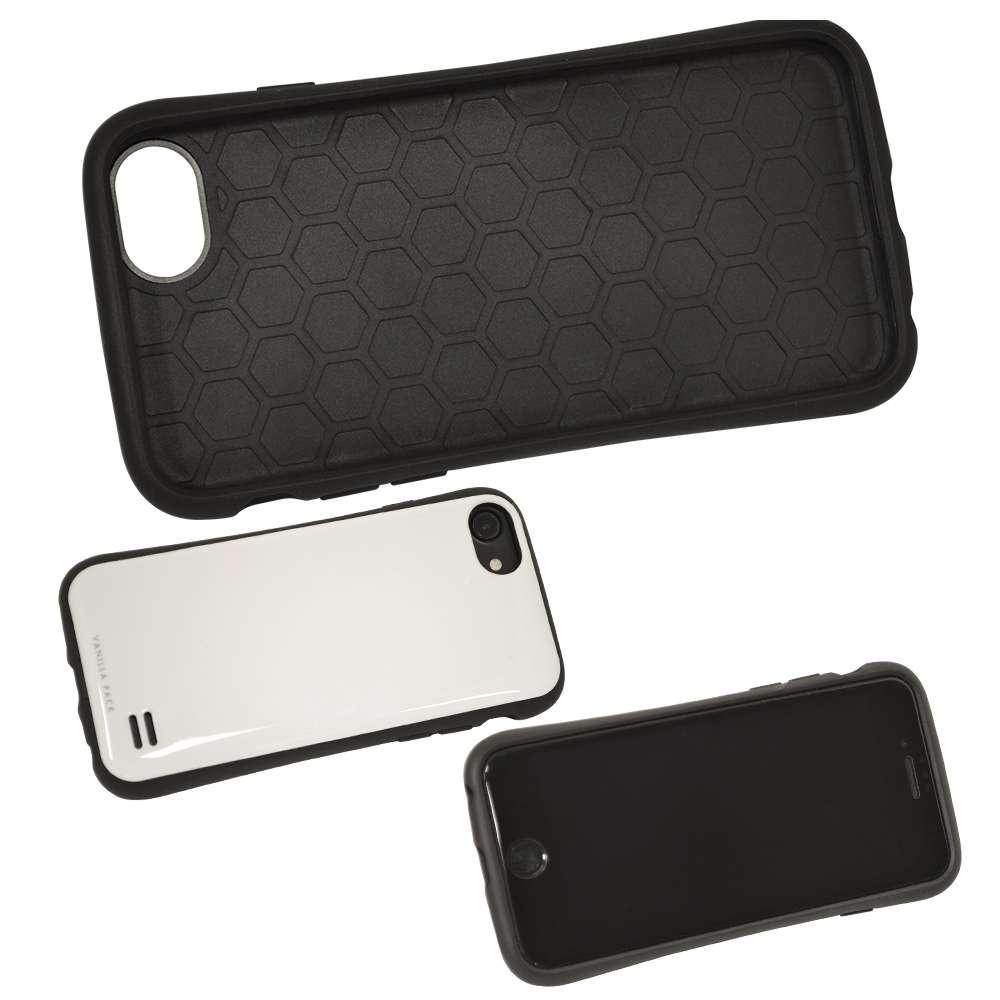 ラスタバナナ iPhone SE 第2世代 iPhone8 iPhone7 iPhone6s 共用 ケース カバー ハイブリッド VANILLA PACK バニラパック BK×BK アイフォン SE2 スマホケース 5194IP747HB