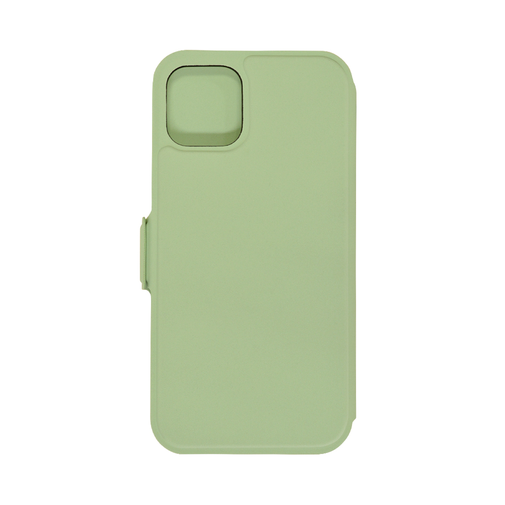 ラスタバナナ iPhone12 12 Pro ケース カバー 手帳型 瞬間装着 薄型 マグネット固定式 マグフィットケース 取り外し簡単 ライトグリーン アイフォン スマホケース 6053IP061BO