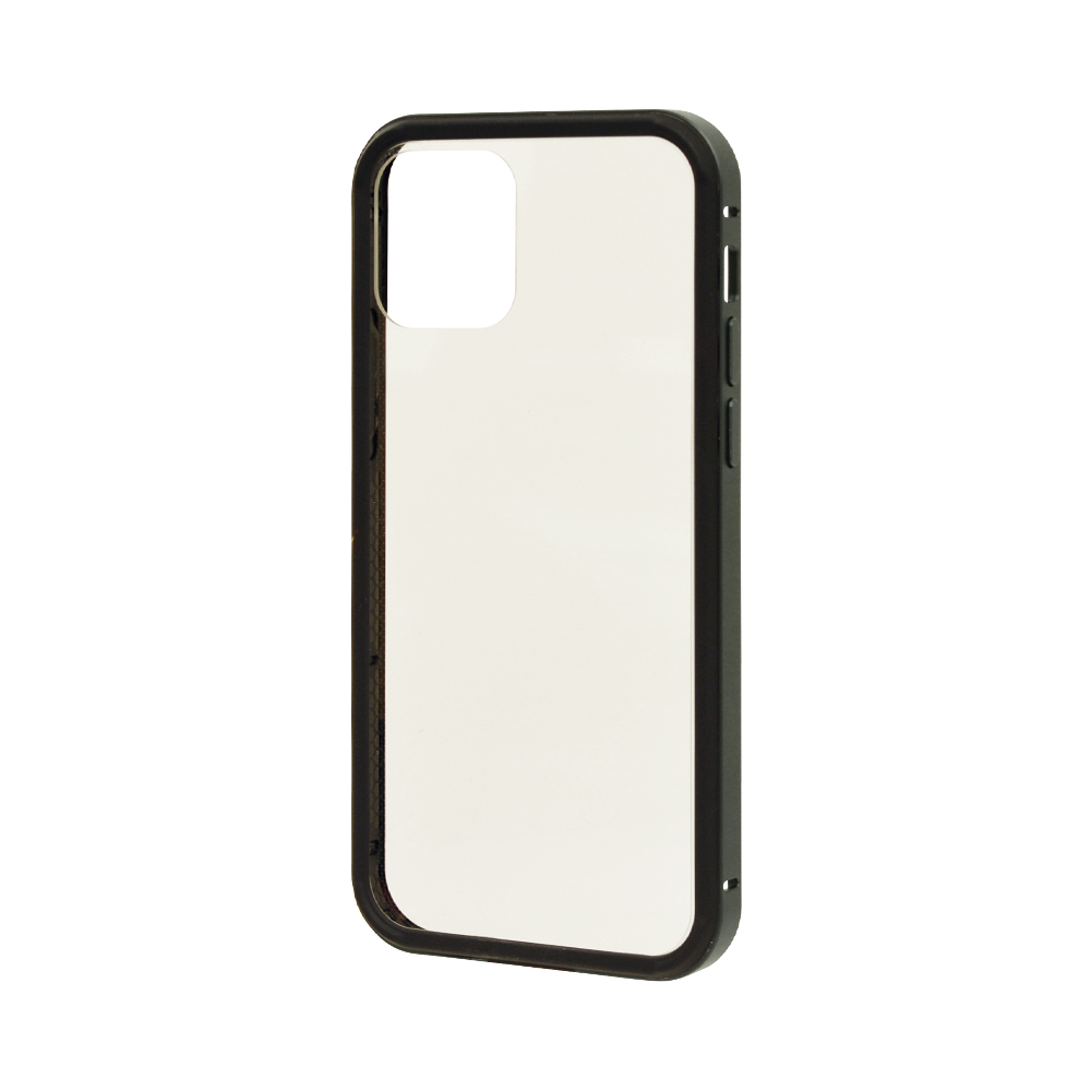 ラスタバナナ iPhone12 mini ケース カバー ハイブリッド バンパー アルミ+TPU PCハードカバー ダークグリーン アイフォン スマホケース 6033IP054HB