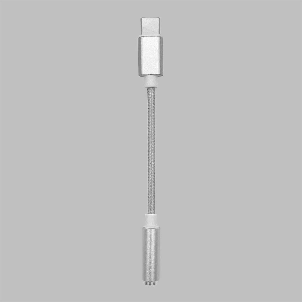 ラスタバナナ iPad スマホ タブレット ヘッドホン 変換 アダプタ DAC搭載 通話対応 タイプC 3.5mmステレオミニ端子 イヤホンジャック デジタルアナログコンバーター マイク対応 Type-C シルバー RHEC35D02SV