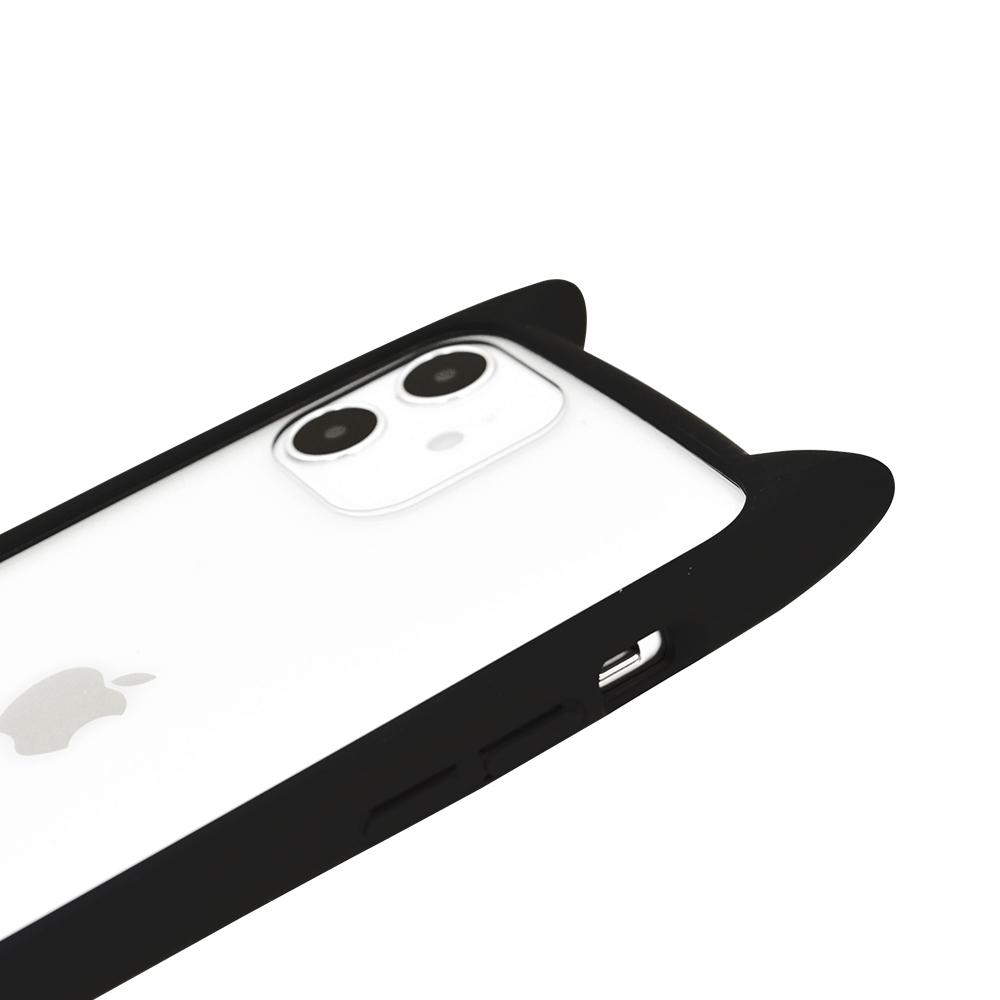 ラスタバナナ iPhone12 mini ケース カバー ハイブリッド VANILLA PACK mimi GLASS バニラパック 猫耳 ネコミミ ガラス ベージュ アイフォン スマホケース 5649IP054HB