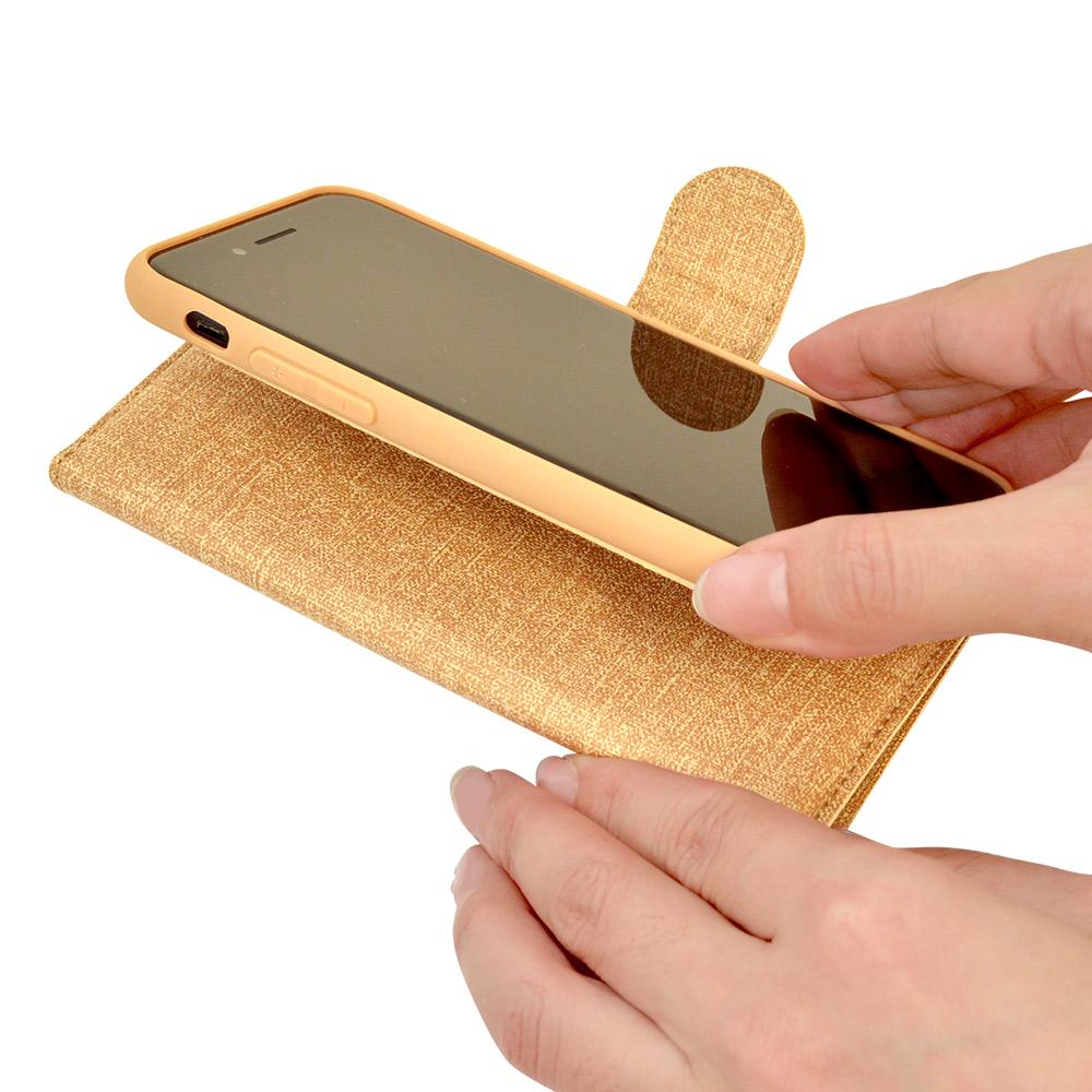 ラスタバナナ iPhone SE 第2世代 iPhone8 iPhone7 iPhone6s 共用 ケース カバー 手帳型 スマホリング一体型 落下防止 布調 ピンク アイフォン スマホケース 6199IP047BO