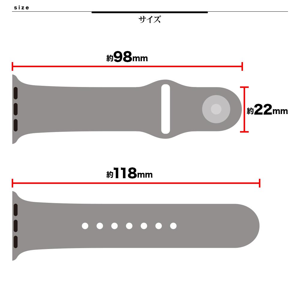 ラスタバナナ Apple Watch SE Series6 Series5 Series4 Series3 44mm 42mm シリコンベルト スタンダードタイプ GRY アップルウォッチ バンド RBLAW4401GRY