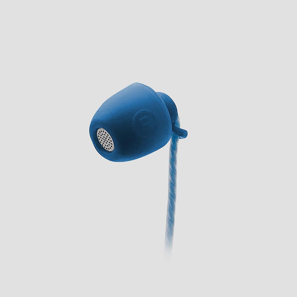 ラスタバナナ スマホ タブレット 3.5mm端子 寝ながら ステレオイヤホン カナル型 マイク付き 通話 応答スイッチ付き ブルー 柔らかい コンパクト 耳にやさしい ソフト シリコン 横向きに寝ても痛くない ハンズフリー 通話対応 スマートフォン RESMS3504BL