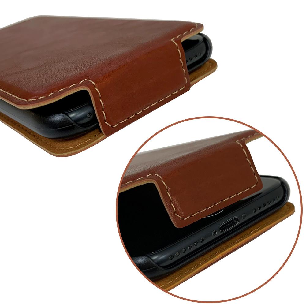 ラスタバナナ iPhone SE 第2世代 iPhone8 iPhone7 iPhone6s 共用 ケース カバー 手帳型 スマホリング一体型 落下防止 縦型 ブラウン アイフォン スマホケース 6205IP047BO