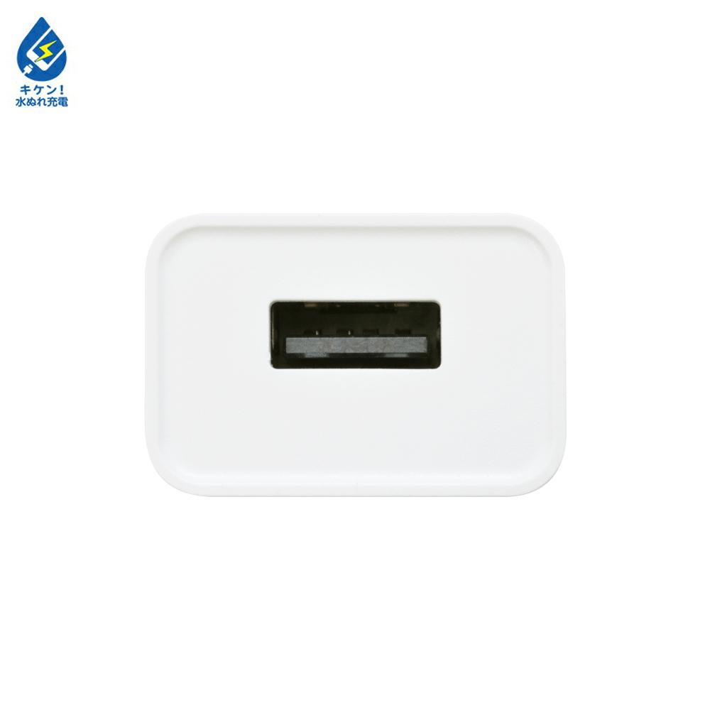 お宝市 ラスタバナナ iPhone スマートフォン 1ポート USB Type-A 汎用 AC充電器 コンパクト 1A WH タイプA コンセント充電器 RACA1A01WH