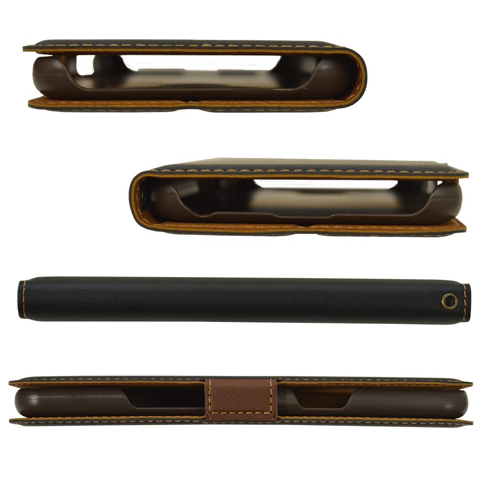 ラスタバナナ LG style3 L-41A ケース カバー 手帳型 +COLOR 薄型 サイドマグネット NV×BR エルジースタイル スマホケース 5577L41ABO