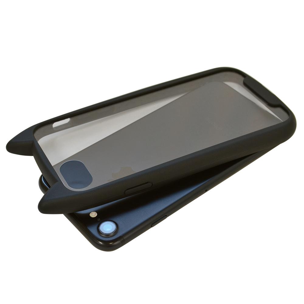 ラスタバナナ iPhone SE 第2世代 iPhone8 iPhone7 iPhone6s 共用 ケース カバー ハイブリッド VANILLA PACK mimi GLASS バニラパック 猫耳 ネコミミ ガラス ブラック アイフォン スマホケース 5523IP747HB  【一般会員様限定】20%OFFキャンペーン中(3月31日まで)