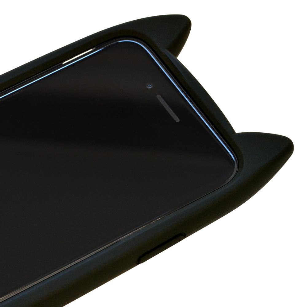 ラスタバナナ iPhone SE 第2世代 iPhone8 iPhone7 iPhone6s 共用 ケース カバー ハイブリッド VANILLA PACK mimi GLASS バニラパック 猫耳 ネコミミ ガラス ブラック アイフォン スマホケース 5523IP747HB
