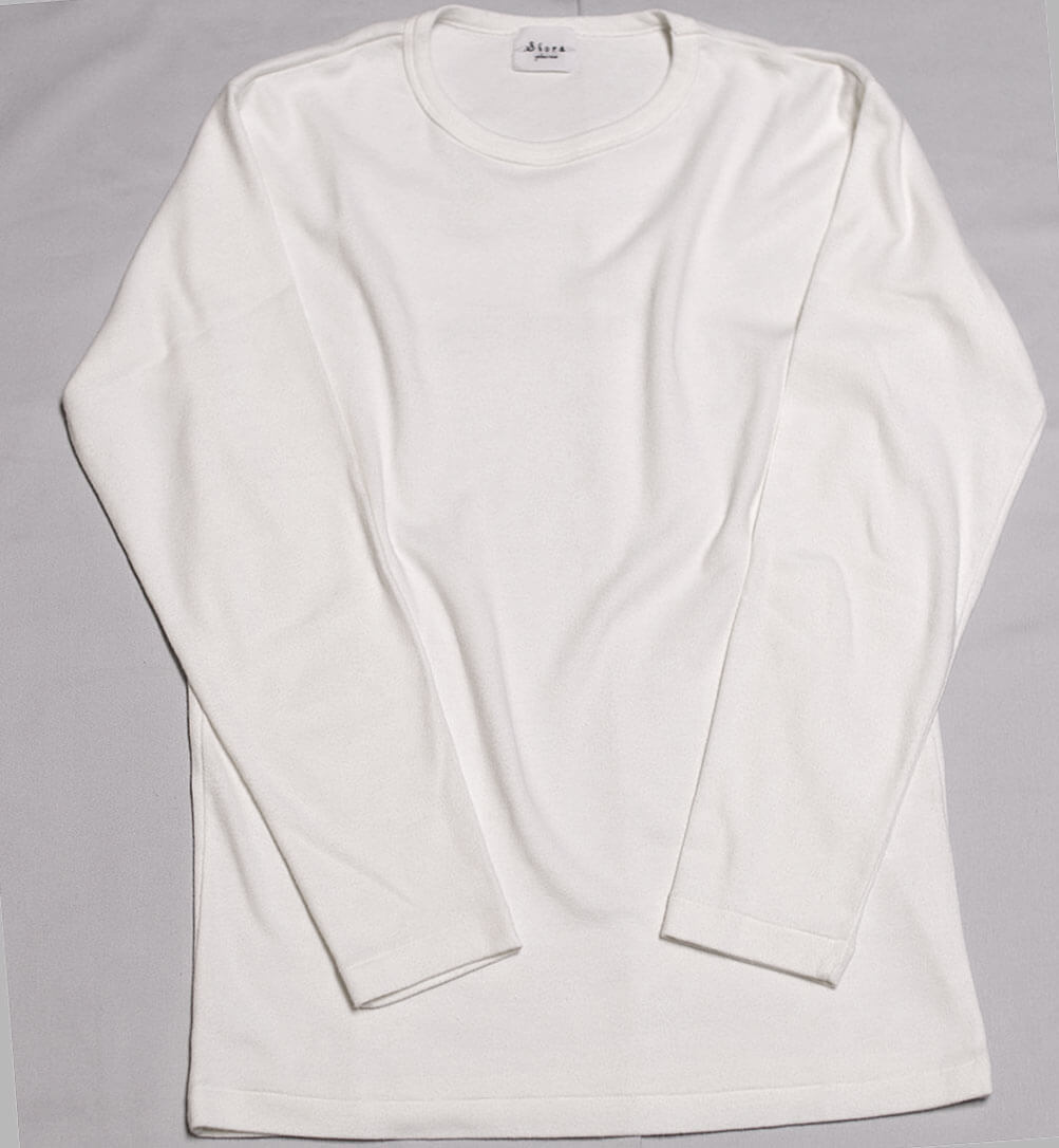 Suvin Rib L/S Tee カットソー(OFF-WHITE)
