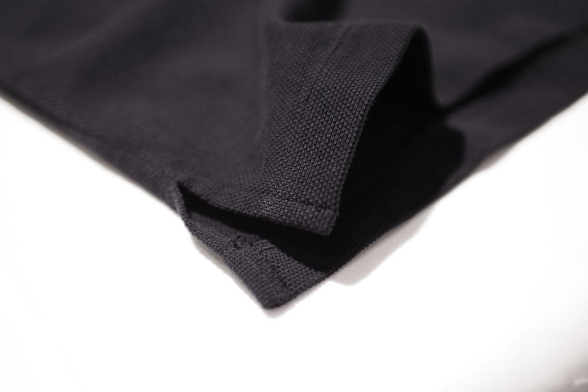 No fuzzing moss stitch tee  (black navy) ガス焼き鹿の子Tシャツ