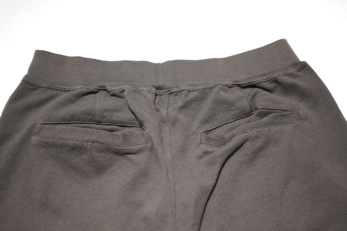 No fuzzing moss stitch trousers (bottle green) ガス焼き鹿の子トラウザー