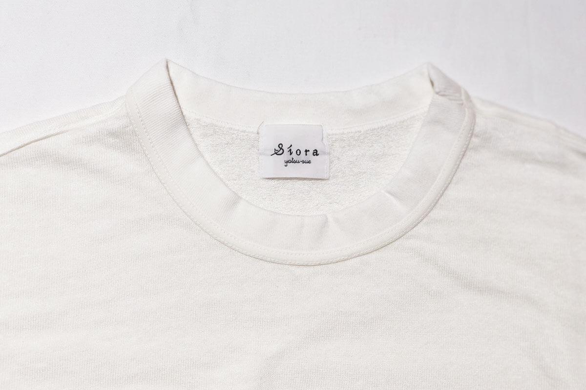 Linen loop knit sweat リネン裏ループスウェット(white)