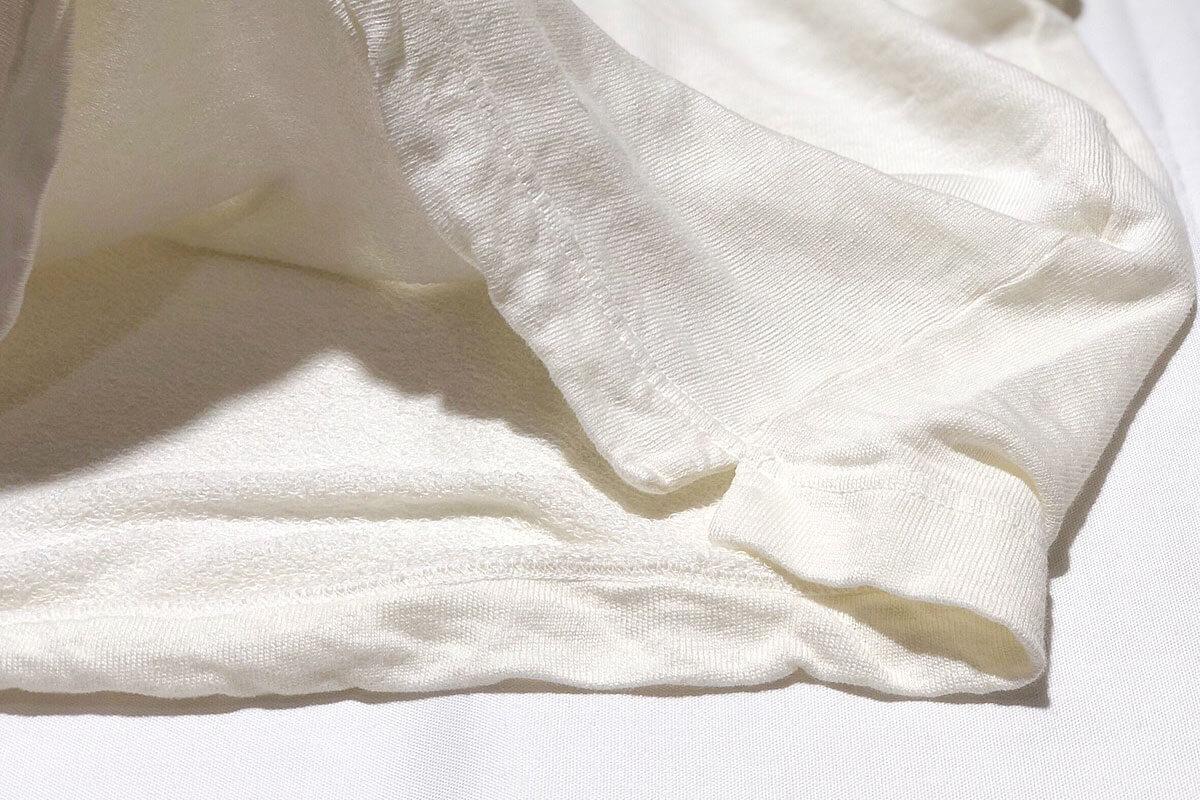 Linen loop knit tee リネン裏ループ Tシャツ(white)