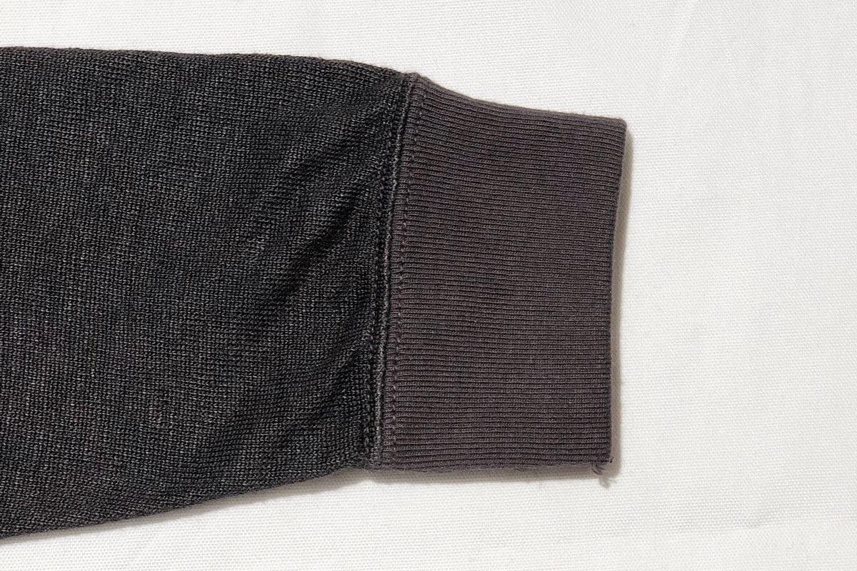 Linen loop knit sweat (black)