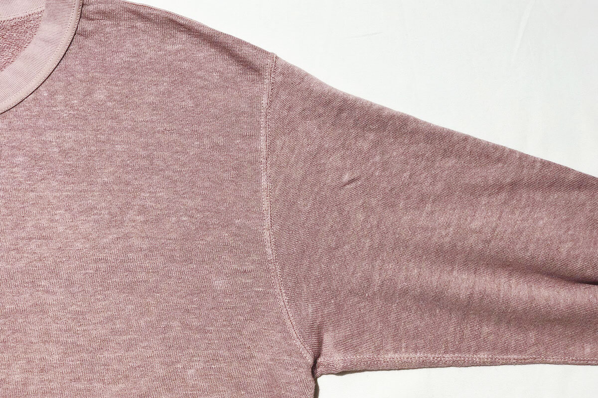 Linen loop knit sweat リネン裏ループスウェット(pink)